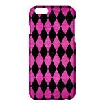 DIAMOND1 BLACK MARBLE & PINK BRUSHED METAL Apple iPhone 6 Plus/6S Plus Hardshell Case