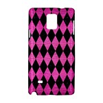 DIAMOND1 BLACK MARBLE & PINK BRUSHED METAL Samsung Galaxy Note 4 Hardshell Case