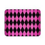 DIAMOND1 BLACK MARBLE & PINK BRUSHED METAL Double Sided Flano Blanket (Mini)