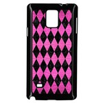 DIAMOND1 BLACK MARBLE & PINK BRUSHED METAL Samsung Galaxy Note 4 Case (Black)