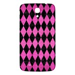 DIAMOND1 BLACK MARBLE & PINK BRUSHED METAL Samsung Galaxy Mega I9200 Hardshell Back Case