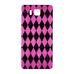 DIAMOND1 BLACK MARBLE & PINK BRUSHED METAL Samsung Galaxy Alpha Hardshell Back Case