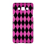 DIAMOND1 BLACK MARBLE & PINK BRUSHED METAL Samsung Galaxy A5 Hardshell Case