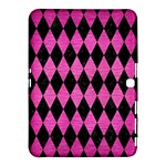 DIAMOND1 BLACK MARBLE & PINK BRUSHED METAL Samsung Galaxy Tab 4 (10.1 ) Hardshell Case