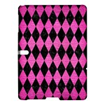 DIAMOND1 BLACK MARBLE & PINK BRUSHED METAL Samsung Galaxy Tab S (10.5 ) Hardshell Case
