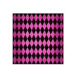 DIAMOND1 BLACK MARBLE & PINK BRUSHED METAL Satin Bandana Scarf