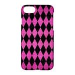 DIAMOND1 BLACK MARBLE & PINK BRUSHED METAL Apple iPhone 7 Hardshell Case