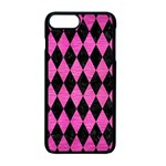 DIAMOND1 BLACK MARBLE & PINK BRUSHED METAL Apple iPhone 7 Plus Seamless Case (Black)