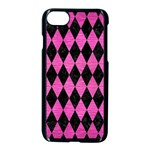 DIAMOND1 BLACK MARBLE & PINK BRUSHED METAL Apple iPhone 7 Seamless Case (Black)