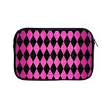 DIAMOND1 BLACK MARBLE & PINK BRUSHED METAL Apple MacBook Pro 13  Zipper Case