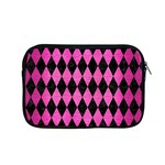 DIAMOND1 BLACK MARBLE & PINK BRUSHED METAL Apple MacBook Pro 15  Zipper Case