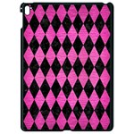 DIAMOND1 BLACK MARBLE & PINK BRUSHED METAL Apple iPad Pro 9.7   Black Seamless Case