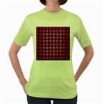 HOUNDSTOOTH1 BLACK MARBLE & PINK BRUSHED METAL Women s Green T-Shirt