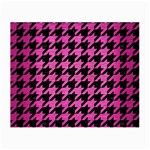 HOUNDSTOOTH1 BLACK MARBLE & PINK BRUSHED METAL Small Glasses Cloth