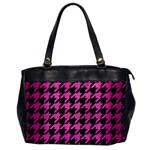 HOUNDSTOOTH1 BLACK MARBLE & PINK BRUSHED METAL Office Handbags