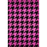 HOUNDSTOOTH1 BLACK MARBLE & PINK BRUSHED METAL 5.5  x 8.5  Notebooks