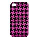 HOUNDSTOOTH1 BLACK MARBLE & PINK BRUSHED METAL Apple iPhone 4/4S Hardshell Case