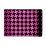 HOUNDSTOOTH1 BLACK MARBLE & PINK BRUSHED METAL Apple iPad Mini Flip Case