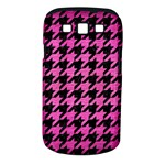 HOUNDSTOOTH1 BLACK MARBLE & PINK BRUSHED METAL Samsung Galaxy S III Classic Hardshell Case (PC+Silicone)