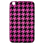 HOUNDSTOOTH1 BLACK MARBLE & PINK BRUSHED METAL Samsung Galaxy Tab 3 (8 ) T3100 Hardshell Case