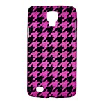 HOUNDSTOOTH1 BLACK MARBLE & PINK BRUSHED METAL Galaxy S4 Active