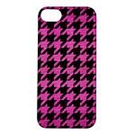 HOUNDSTOOTH1 BLACK MARBLE & PINK BRUSHED METAL Apple iPhone 5S/ SE Hardshell Case