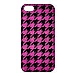 HOUNDSTOOTH1 BLACK MARBLE & PINK BRUSHED METAL Apple iPhone 5C Hardshell Case