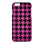 HOUNDSTOOTH1 BLACK MARBLE & PINK BRUSHED METAL Apple iPhone 6 Plus/6S Plus Hardshell Case