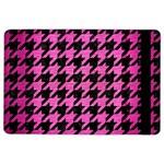 HOUNDSTOOTH1 BLACK MARBLE & PINK BRUSHED METAL iPad Air 2 Flip