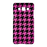 HOUNDSTOOTH1 BLACK MARBLE & PINK BRUSHED METAL Samsung Galaxy A5 Hardshell Case