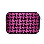 HOUNDSTOOTH1 BLACK MARBLE & PINK BRUSHED METAL Apple MacBook Pro 13  Zipper Case