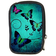 Texture Butterflies Background Compact Camera Cases by Celenk