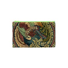 Wings Feathers Cubism Mosaic Cosmetic Bag (xs)