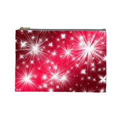 Christmas Star Advent Background Cosmetic Bag (large)  by Celenk