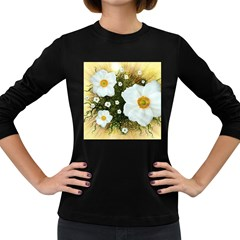 Summer Anemone Sylvestris Women s Long Sleeve Dark T Shirts by Celenk