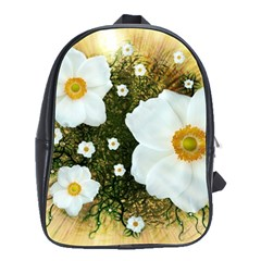 Summer Anemone Sylvestris School Bag (large) by Celenk