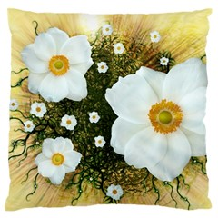 Summer Anemone Sylvestris Large Flano Cushion Case (two Sides) by Celenk