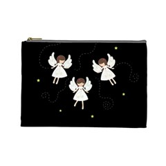 Christmas Angels  Cosmetic Bag (large)  by Valentinaart