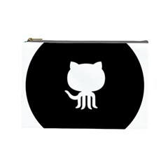 Logo Icon Github Cosmetic Bag (large)  by Celenk