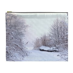 Winter Snow Ice Freezing Frozen Cosmetic Bag (xl)