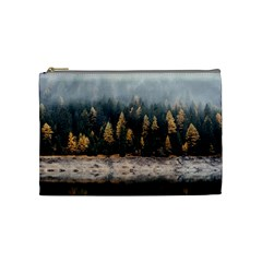 Trees Plants Nature Forests Lake Cosmetic Bag (medium)