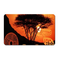 Africa Safari Summer Sun Nature Magnet (rectangular) by Celenk