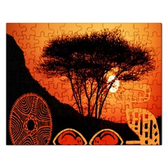 Africa Safari Summer Sun Nature Rectangular Jigsaw Puzzl by Celenk
