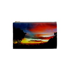 Sunset Mountain Indonesia Adventure Cosmetic Bag (small)  by Celenk
