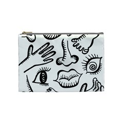Anatomy Icons Shapes Ear Lips Cosmetic Bag (medium)  by Celenk