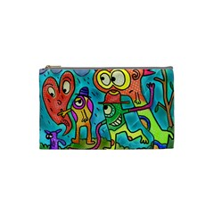Painting Painted Ink Cartoon Cosmetic Bag (small)  by Celenk
