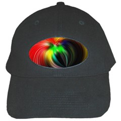 Circle Lines Wave Star Abstract Black Cap by Celenk