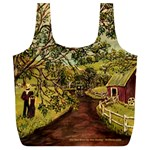 Old Red Barn - -  Full Print Recycle Bag (XL)