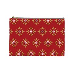 Pattern Background Holiday Cosmetic Bag (large)