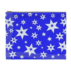 Star Background Pattern Advent Cosmetic Bag (xl)